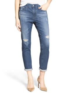 AG 'The Beau' High Rise Slouchy Skinny Jeans (Dunes Destroyed)