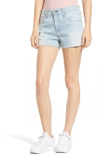 AG Adriano Goldschmied AG The Bryn High Waist Cutoff Denim Shorts (Indigo Deluge Destructed)