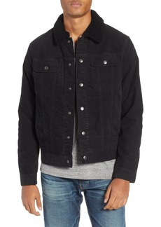 AG Adriano Goldschmied AG The Dart Corduroy Jacket with Genuine Shearling Collar
