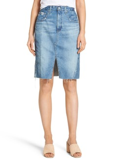 AG The Emery High Waist Denim Skirt (18 Years Blue Fawn)