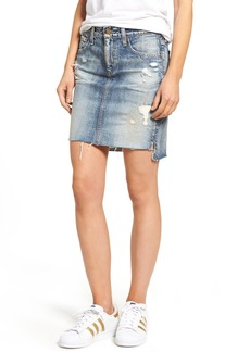 AG The Erin Raw Step Hem Denim Skirt