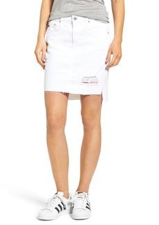 AG The Erin Step Hem Denim Skirt (White Intuition)