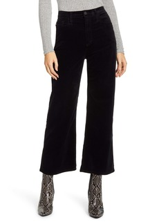 AG Adriano Goldschmied AG The Etta High Waist Velvet Crop Wide Leg Pants