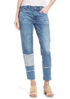 AG Adriano Goldschmied AG The Ex-Boyfriend Crop Slim Jeans (18 Years Blue Mosque)