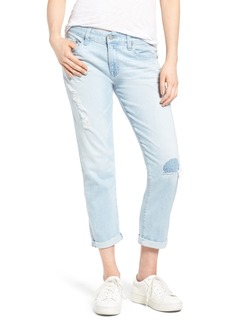 AG The Ex-Boyfriend Crop Slim Jeans (27 Years Naturale Mended)