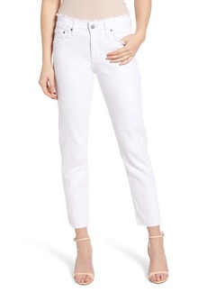 AG Adriano Goldschmied AG The Ex-Boyfriend Distressed Slim Jeans (Retro White)