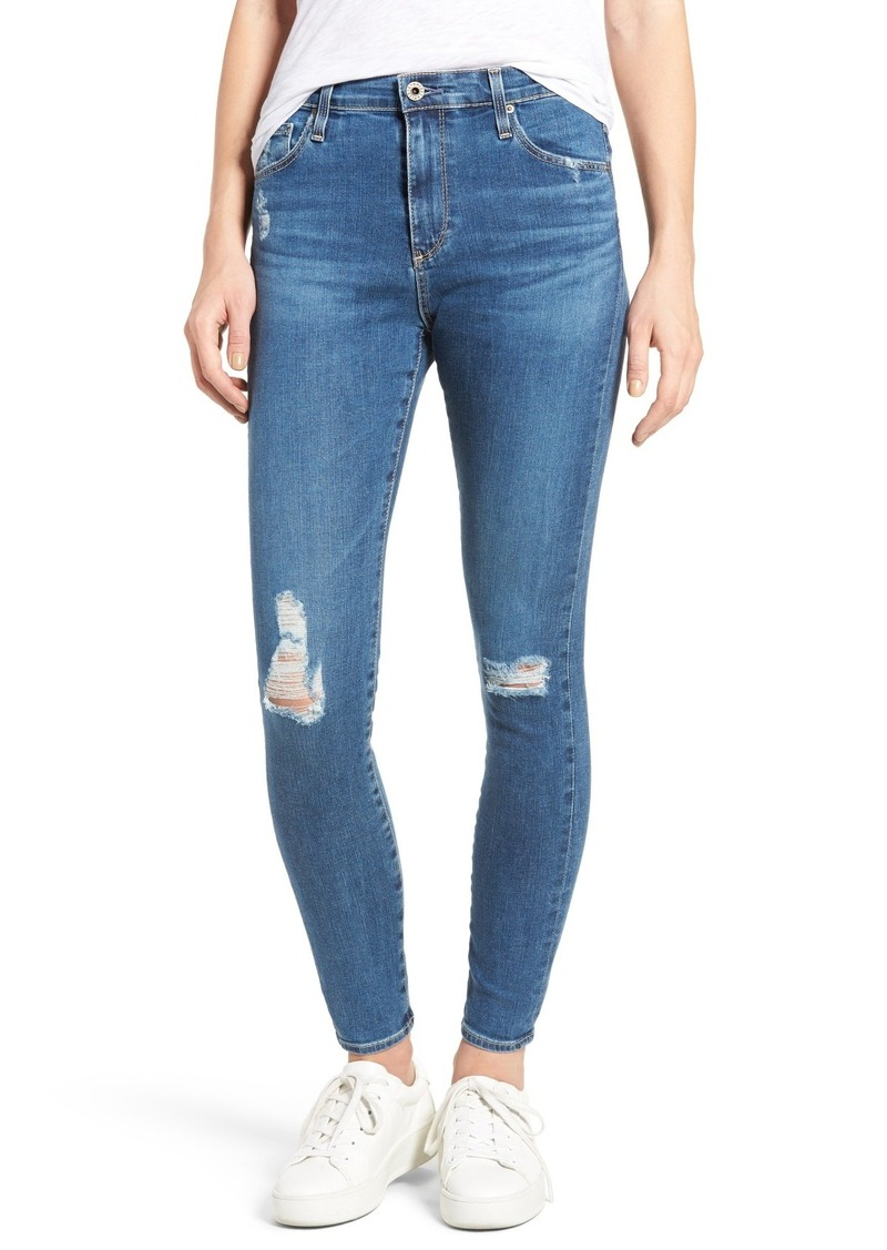 98c2bdcac48a AG Adriano Goldschmied AG The Farrah High Waist Ankle Skinny Jeans (Interim  Ripped)