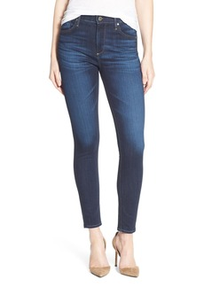AG 'The Farrah' High Rise Crop Skinny Jeans