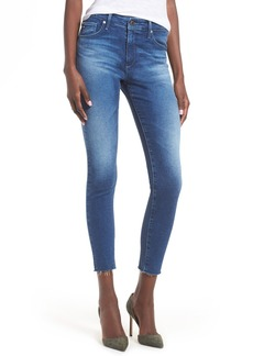 AG The Farrah High Waist Crop Skinny Jeans