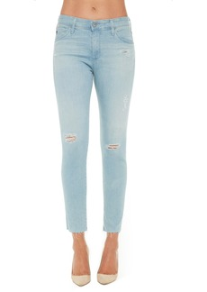 AG 'The Farrah' High Rise Crop Skinny Jeans (Anchor Home)