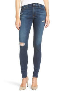 AG 'The Farrah' High Rise Skinny Jeans (8 Year Wander)