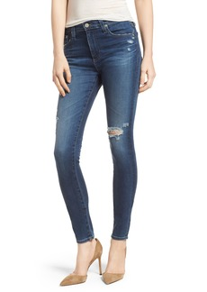 AG 'The Farrah' High Rise Skinny Jeans (9 Years - Atlas)