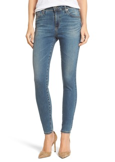 AG 'The Farrah' High Rise Skinny Jeans (Bungalow Blue)