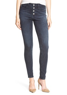 AG 'The Farrah' High Rise Skinny Jeans (Waterline)