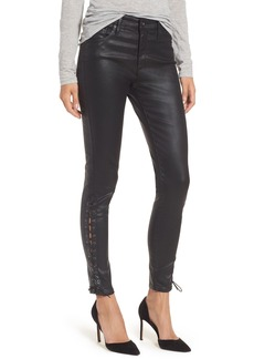 AG The Farrah High Waist Ankle Skinny Faux Leather Pants