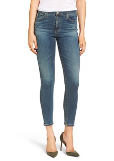 AG The Farrah High Waist Ankle Skinny Jeans (10 Years Brewed)