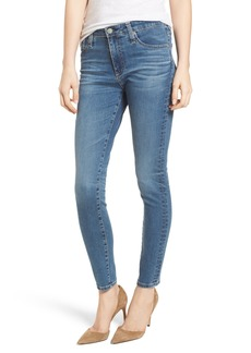 AG The Farrah High Waist Ankle Skinny Jeans (10 Years Sea Mist)
