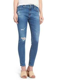 AG Adriano Goldschmied AG The Farrah High Waist Ankle Skinny Jeans (14 Year Blue Nile Destructed)