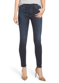 AG Adriano Goldschmied AG The Farrah High Waist Ankle Skinny Jeans (8 Years Blue Lament)