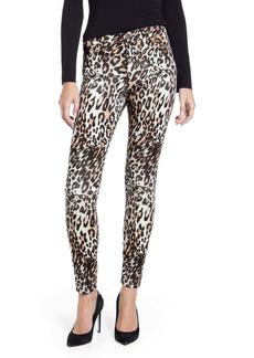 AG Adriano Goldschmied AG The Farrah High Waist Ankle Velvet Skinny Jeans (Bold Leopard Ivory Dust)