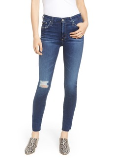 AG Adriano Goldschmied AG The Farrah High Waist Raw Hem Ankle Skinny Jeans (12 Years Blue Cloud) (Nordstrom Exclusive)