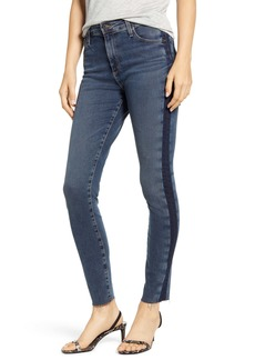 AG Adriano Goldschmied AG The Farrah High Waist Side Stripe Raw Hem Ankle Skinny Jeans (Dusky Skies)