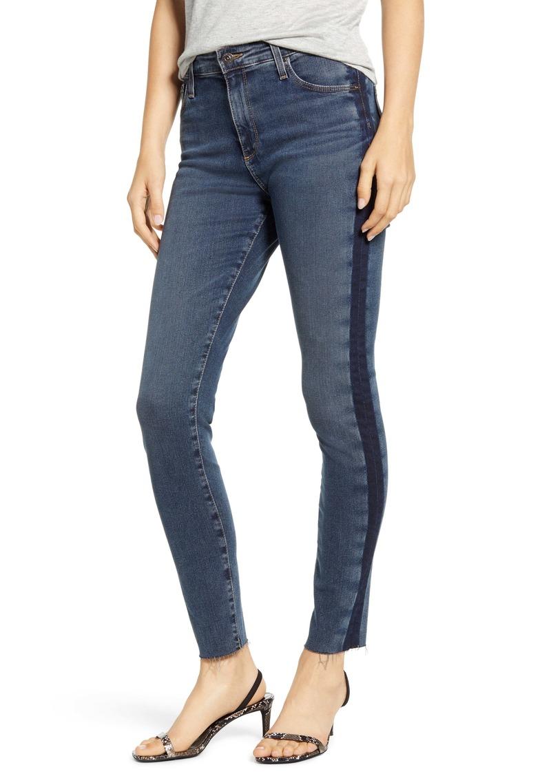 AG Adriano Goldschmied AG The Farrah High Waist Side Stripe Raw Hem Ankle Skinny Jeans (Dusky Skies)