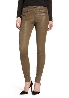 AG The Farrah High Waist Skinny Leather Pants