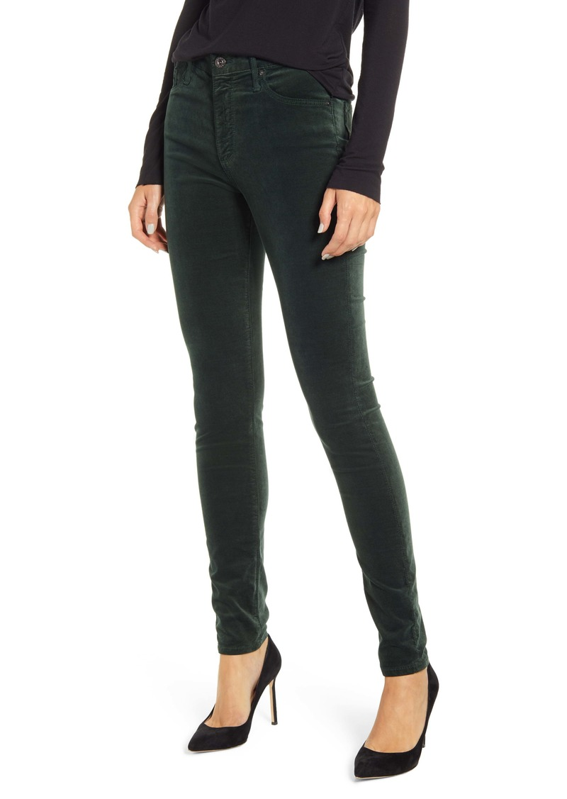 AG Adriano Goldschmied AG The Farrah High Waist Velvet Jeans