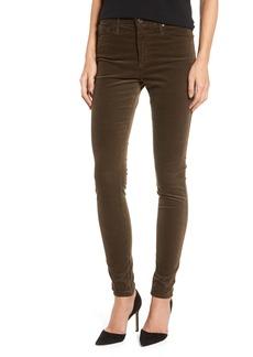 AG The Farrah High Waist Velvet Jeans