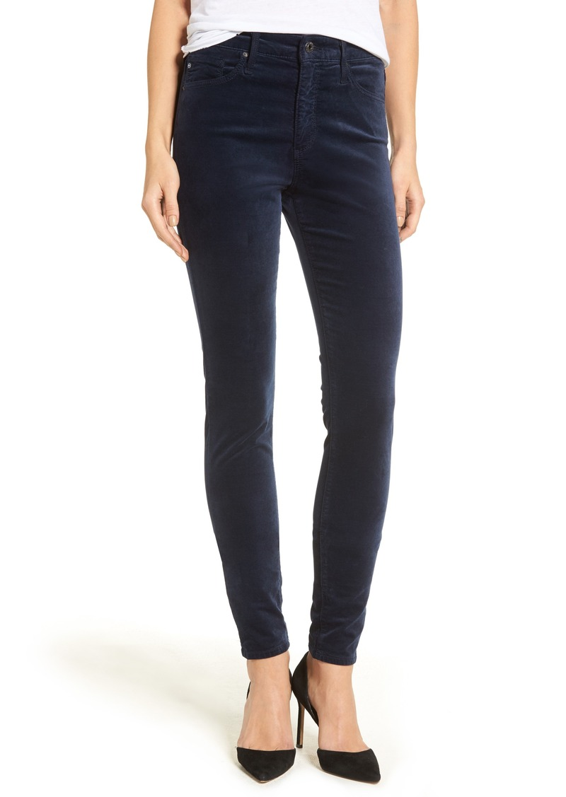 AG Adriano Goldschmied AG The Farrah High Waist Velvet Jeans