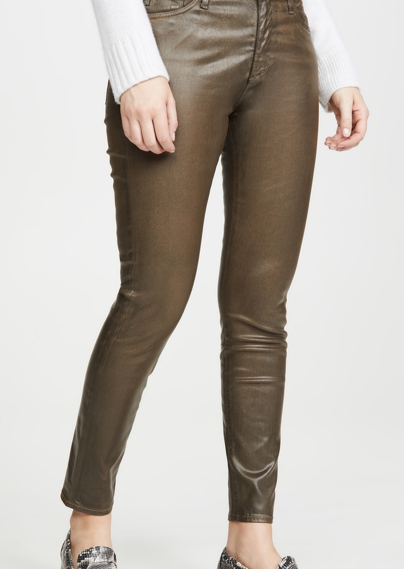 AG Adriano Goldschmied AG The Farrah Vintage Leatherrette Skinny Ankle Jeans