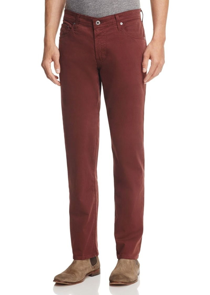 AG Adriano Goldschmied AG The Graduate Slim Straight Fit Pants in Deep Mahogany