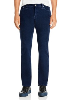 AG Adriano Goldschmied AG The Graduate Straight Slim Fit Corduroy Pants in Sulfur Deep Trenches