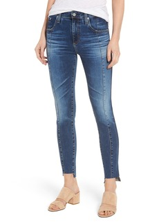 AG The High Rise Farrah Ankle Skinny Jeans (10 Years Rhythmic Blue)