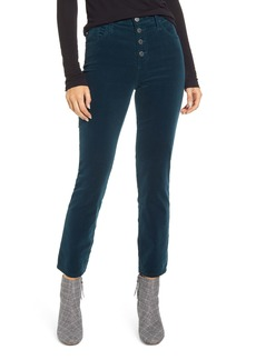 AG Adriano Goldschmied AG The Isabelle Button High Waist Ankle Straight Leg Jeans (Royal Lagoon)