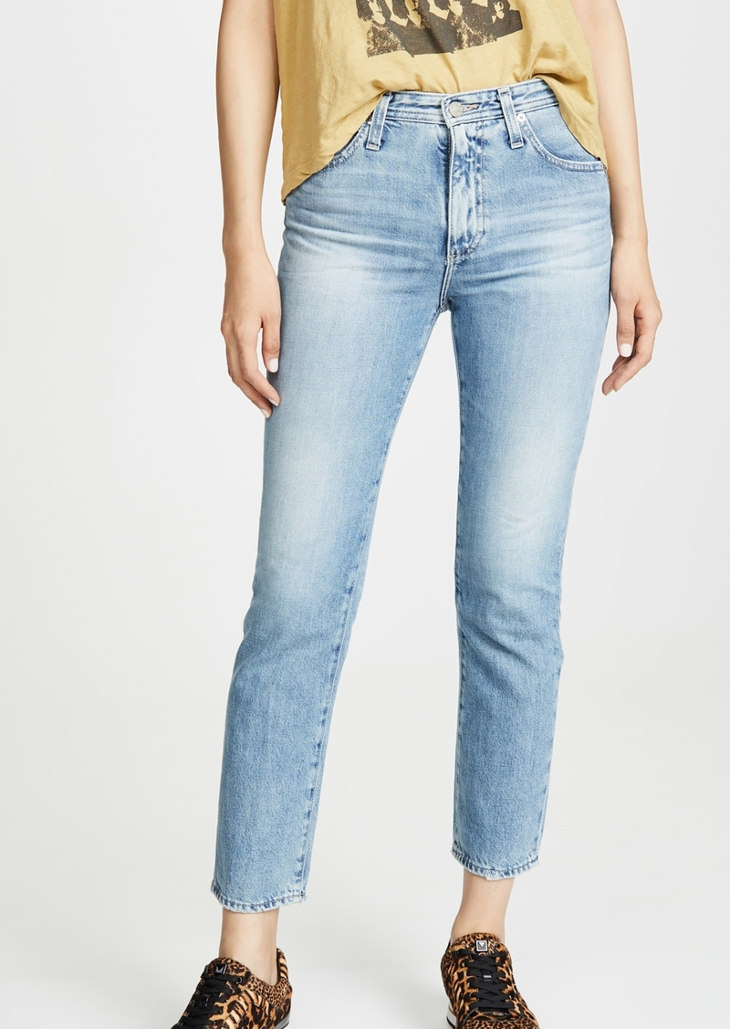 AG Adriano Goldschmied AG The Isabelle High-Rise Straight Crop Jeans