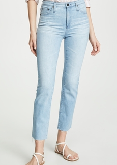 AG Adriano Goldschmied AG The Isabelle High Rise Straight Crop Jeans