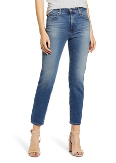 AG Adriano Goldschmied AG The Isabelle High Waist Crop Straight Leg Jeans (13 Years Flowing)