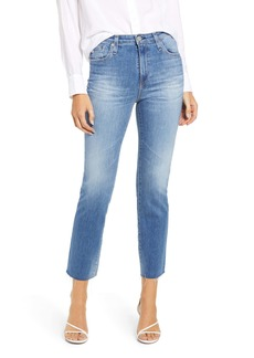 AG Adriano Goldschmied AG The Isabelle High Waist Crop Straight Leg Jeans (12 Years Eternal Blue)