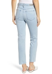 AG Adriano Goldschmied AG The Isabelle High Waist Crop Straight Leg Jeans (13 Years Saltwater)