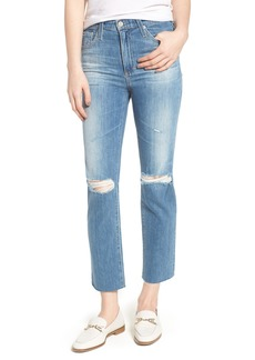 AG The Isabelle High Waist Crop Straight Leg Jeans (13 Years Saltwater)