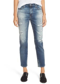 AG Adriano Goldschmied AG The Isabelle High Waist Crop Straight Leg Jeans (17 Years Free Spirit)