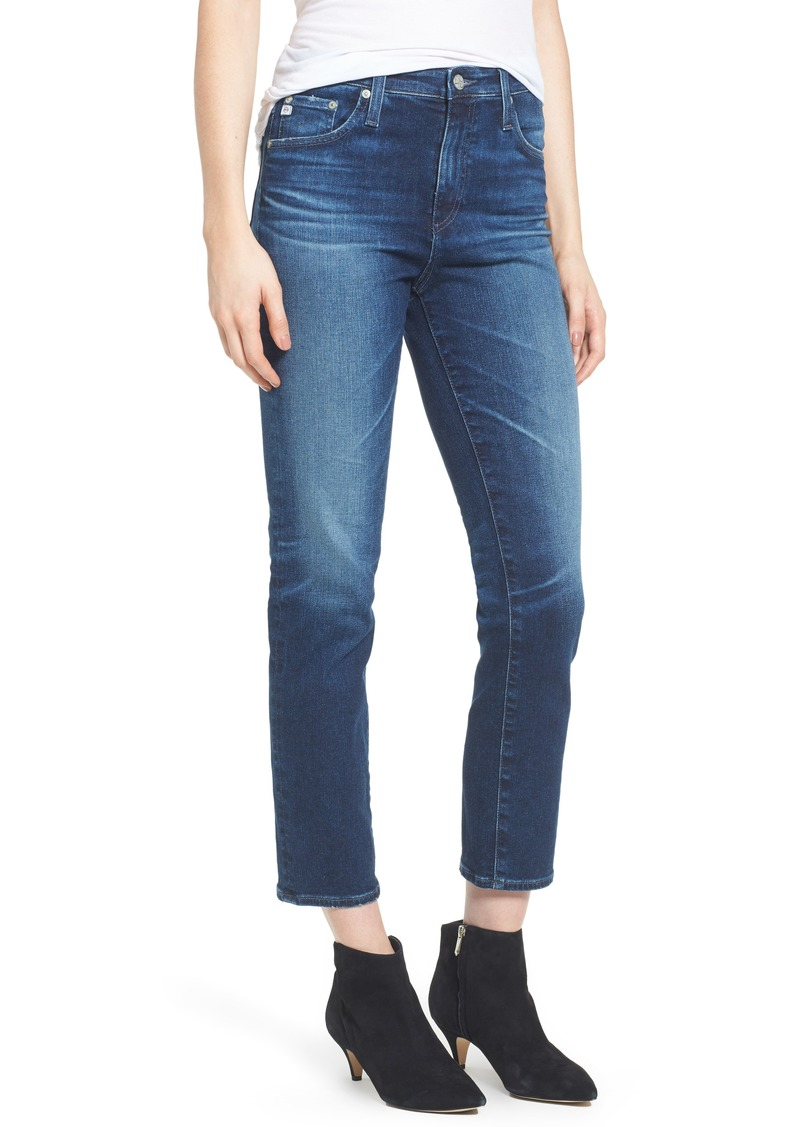 AG Adriano Goldschmied AG The Isabelle High Waist Crop Straight Leg Jeans (8 Years Ocean Tropic)
