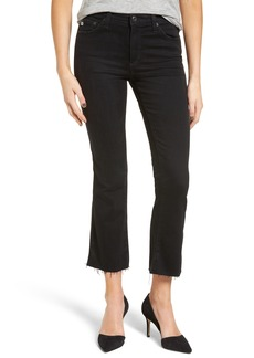 AG The Jodi High Waist Crop Flare Jeans (03 Years Black Obsidian)