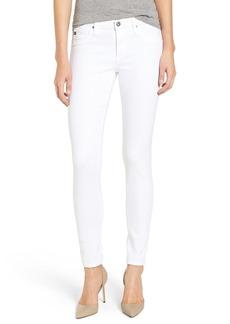 AG 'The Legging' Ankle Jeans (White Frayed)