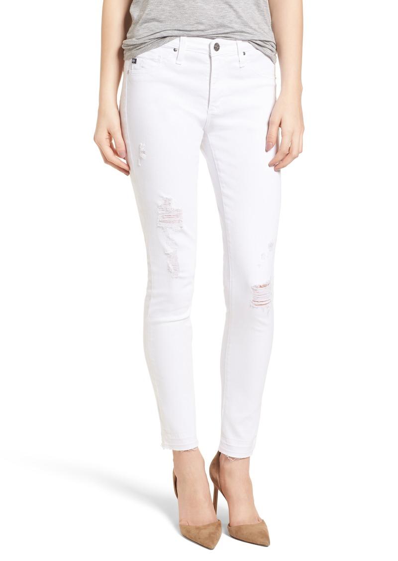 59dd53101378 AG Adriano Goldschmied AG The Legging Ankle Super Skinny Jeans (Rudimentary  White)