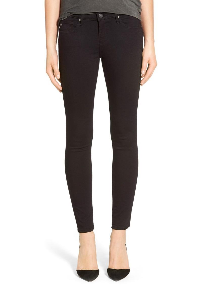 AG Adriano Goldschmied AG 'The Legging' Ankle Super Skinny Jeans (Super Black)