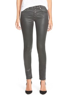 AG Adriano Goldschmied AG 'The Legging' Coated Ankle Jeans (Vintage Leatherette Black)