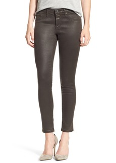 AG 'The Legging' Coated Ankle Jeans (Vintage Leatherette Bordeaux Brown)